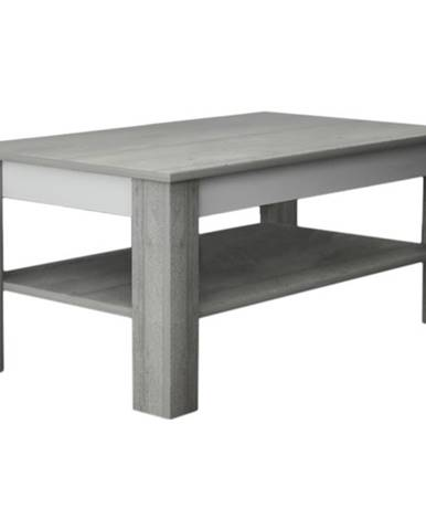 Konferenčný stolík VOTO 2 betón/biela