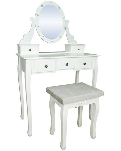 MERKURY MARKET Toaletný stolík Pandora biely