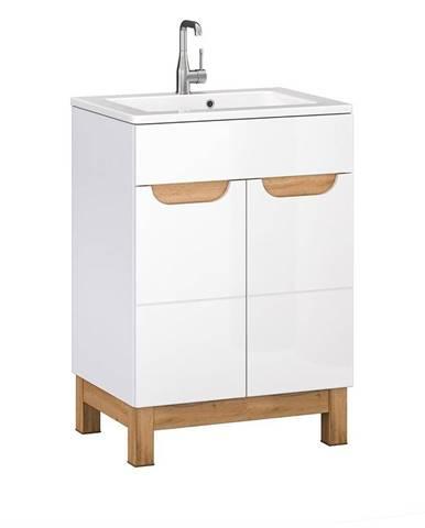 Kúpeľňová skrinka pod umývadlo Bafi 2D 60 cm