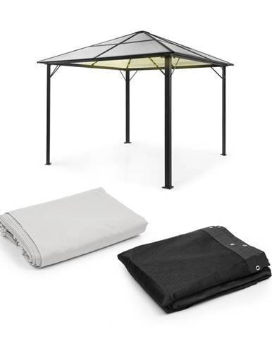 Blumfeldt Pantheon Solid Sky Ambient Solar, pavilón, sieťky proti komárom, 3 × 3 m, solárne osvetlenie