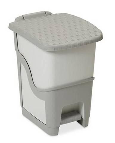 Ratanový odpadkový kôš 18 l, sivá