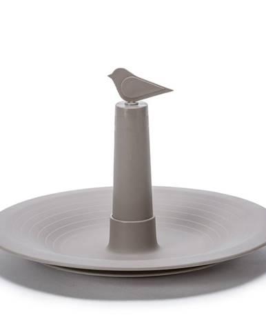 Plastia Pítko pre vtáky Finch, sivá