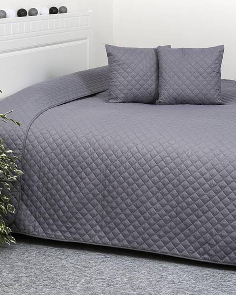 4Home 4Home Prehoz na posteľ Orient sivá, 220 x 240 cm, 40 x 40 cm