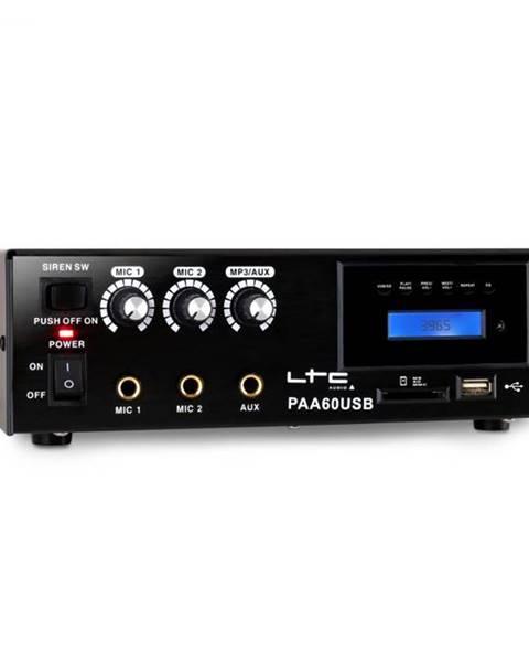 LTC PA zosilňovač LTC PAA60USB, USB, MP3, mikrofón, 12 V