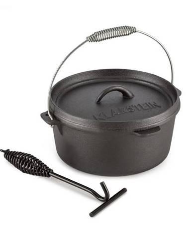 Klarstein Hotrod 45, liatinový hrniec, BBQ hrniec, 4.5 qt/4 l, liatina, čierny