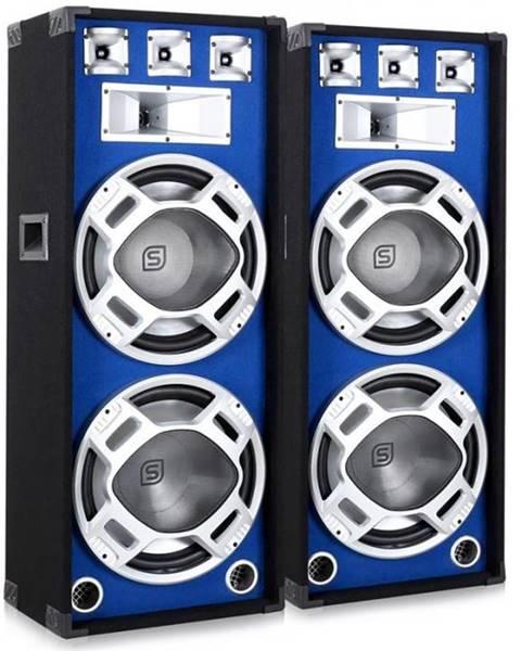 Skytronic Skytronic Pár 38 cm PA reproduktorov, modrý svetelný efekt, 2 x 1000 W