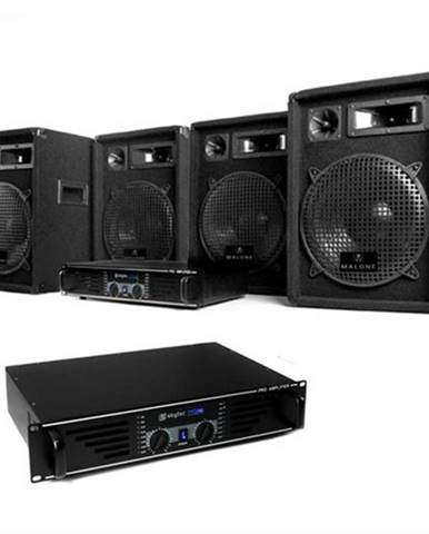 "Electronic-Star Kompletná DJ PA sada ""Miami Nights Pro"", 2 x zosilňovač, 4x reproduktor"