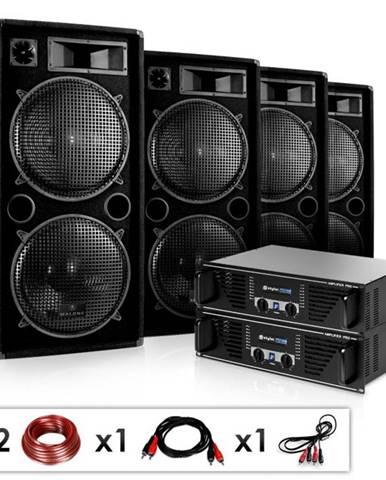 "Electronic-Star Kompletná DJ PA sada ""Phuket Pulsar Pro"" 2 x zosilňovač, 4 x reproduktor"
