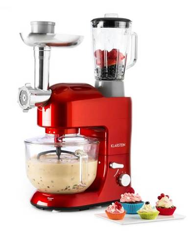 Klarstein Lucia Rossa 2G kuchynský robot, mixér, mlynček na mäso, 1300W, BPA-free