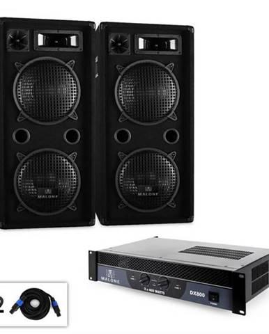 """Malone DJ PA sada 2.0 """"Beat"""" so zosilňovačom, reproduktorom & káblom, 1500 W"""