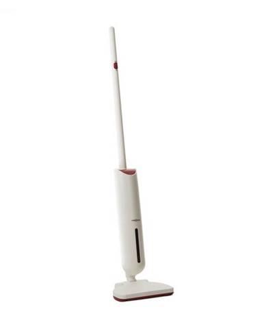 OneConcept Primo, vysávač, akumulátor, umývateľný filter, 120 W, priestorovo úsporný, biely/červený