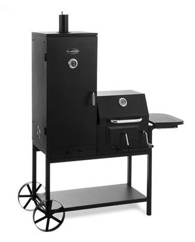 Klarstein Fleischbrocken, gril na drevené uhlie, udiareň, BBQ gril, čierny