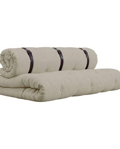 Rozkladacia pohovka s béžovým poťahom Karup Design Buckle Up Linen
