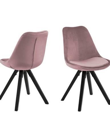 Ružová jedálenská stolička Actona Dima