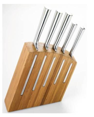 Sada 5 nožov a stojana z bambusového dreva Jean Dubost