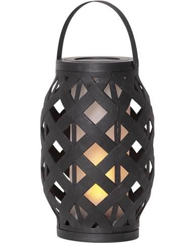 Čierny lampáš Best Season Flame Lantern, 15 x 23 cm
