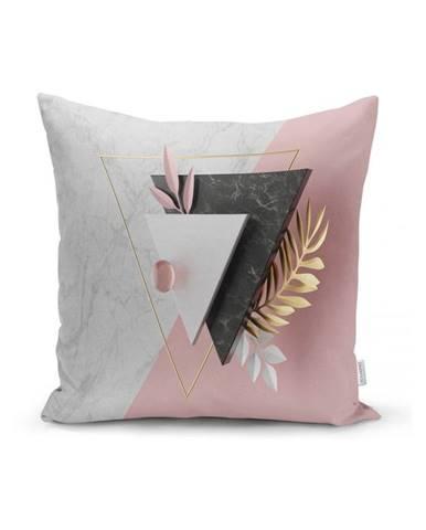 Obliečka na vankúš Minimalist Cushion Covers BW Marble Triangles, 45 x 45 cm