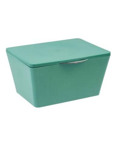 Zelený úložný box do kúpeľne Wenko Brasil