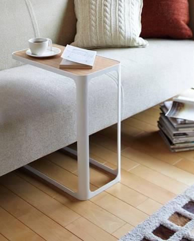 Biely odkladací stolík YAMAZAKI Frame