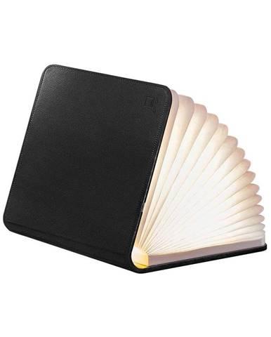 Čierna veľká LED stolová lampa v tvare knihy Gingko Large