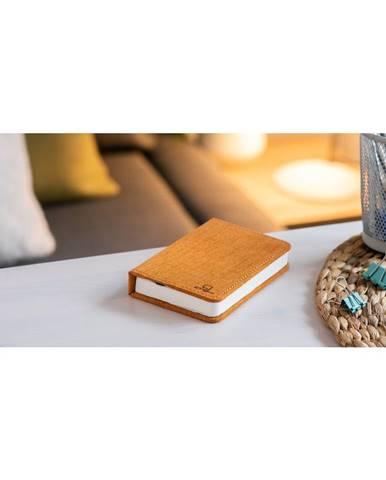 Oranžová malá LED stolová lampa v tvare knihy Gingko Booklight
