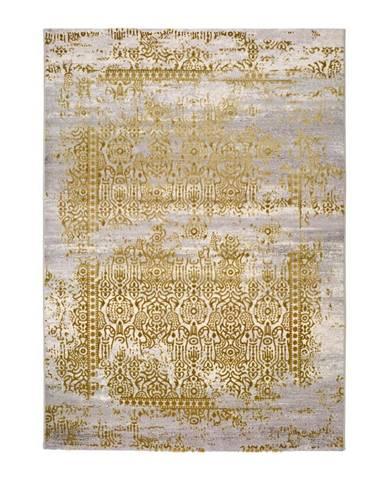Sivo-zlatý koberec Universal Arabela Gold, 140 x 200 cm