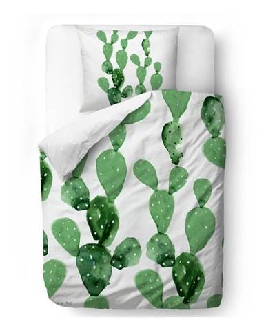 Obliečky z bavlneného saténu Butter Kings Cactus Watercolour, 135 x 200 cm
