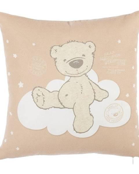 Apolena Hnedá obliečka na vankúš s prímesou bavlny Mike&Co.NEWYORK Bear, 35 x 35 cm