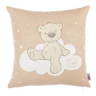 Hnedá obliečka na vankúš s prímesou bavlny Mike&Co.NEWYORK Bear, 35 x 35 cm