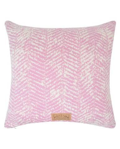 Ružová obliečka na vankúš Hawke&Thorn Herringbone