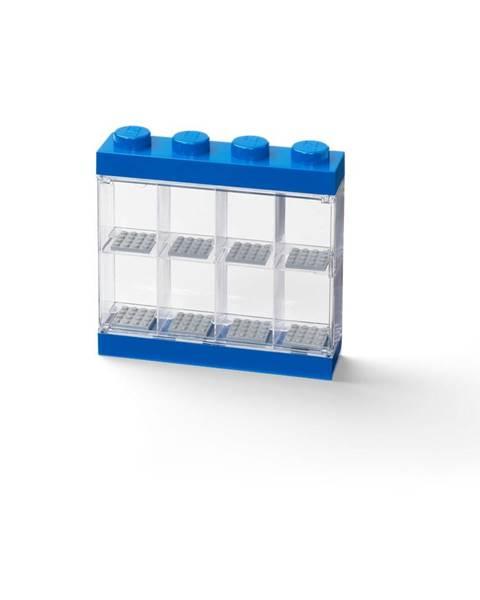 LEGO® Modrá zberateľská skrinka na 8 minifigúrok LEGO®