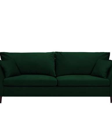 Zelená rozkladacia pohovka s úložným priestorom Mazzini Sofas Pivoine
