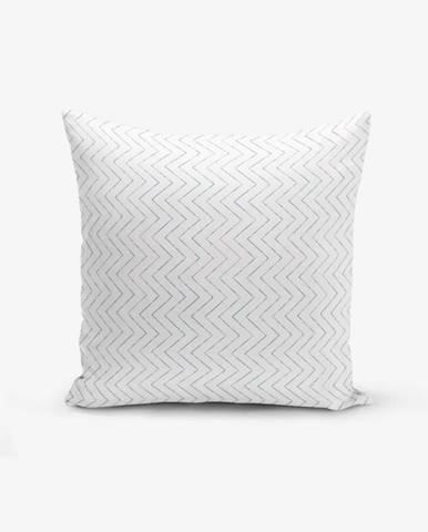 Obliečka na vankúš s prímesou bavlny Minimalist Cushion Covers Colorful Zigzag Puro, 45×45 cm