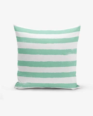 Obliečka na vankúš s prímesou bavlny Minimalist Cushion Covers Su Green Striped Modern, 45×45 cm
