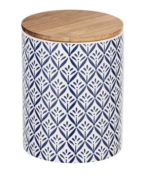 Wenko Keramický úložný box s bambusovým vekom Wenko Lorca, 950 ml