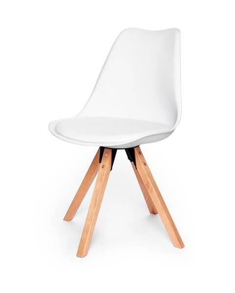 loomi.design Súprava 2 bielych stoličiek s podnožou z bukového dreva loomi.design Eco