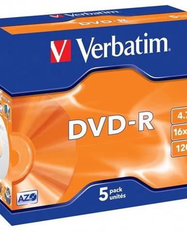 Disk Verbatim DVD-R 4,7GB, 16x, jewel box, 5ks