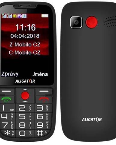 Mobilný telefón Aligator A890 Senior čierny