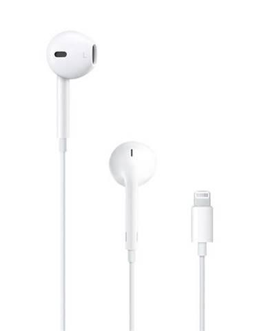 Slúchadlá Apple EarPods Lightning biela
