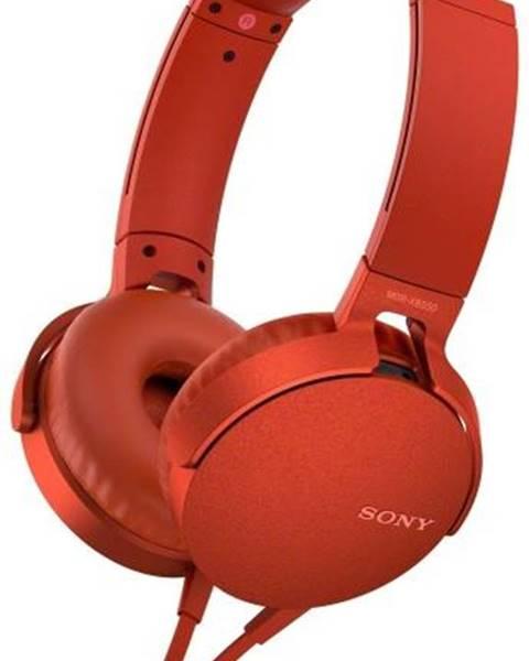 Sony Slúchadlá Sony MDR-Xb550ap Extra Bass™ červená