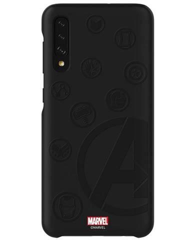Kryt na mobil Samsung Smart Cover Avengers na Galaxy A50 čierny