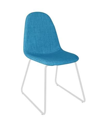 Stolička látka modrá/kov ONTARI