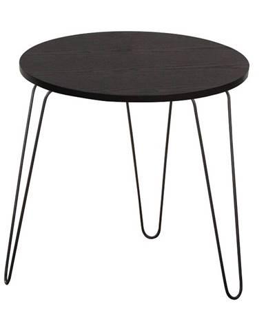 Príručný stolík čierny dub/čierna RONIN