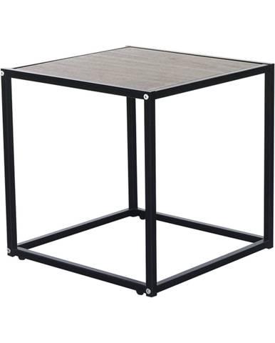 Príručný stolík dub/čierna JAKIM TYP 1
