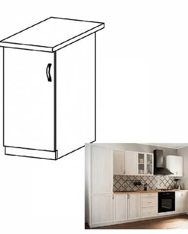 Dolná skrinka D40 ľavá biela/sosna Andersen SICILIA