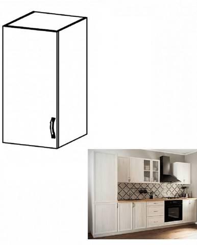 Horná skrinka G40 ľavá biela/sosna Andersen SICILIA