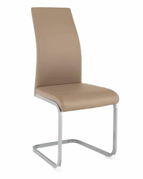 Kondela Jedálenská stolička sivohnedá TAUPE/sivá NOBATA rozbalený tovar