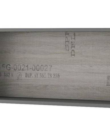 Nástenný regál SANTANA SA-14 grafit/dub santana