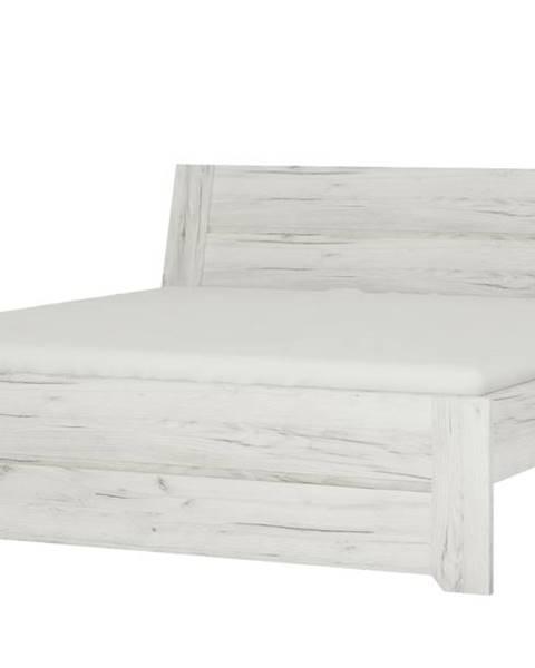 Sconto Posteľ ANGEL 91 dub craft biely, 140x200 cm