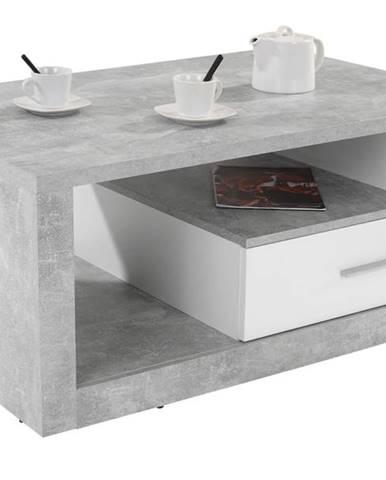 Konferenčný stolík IGUAN betón/biela